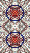 Sacred Geometry Posters - Mandala 12 for iPhone Double Poster by Terry Reynoldson