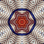 Hinduism Metal Prints - Mandala 12 Metal Print by Terry Reynoldson