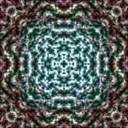 Kaleidoscope Digital Art - Mandala 122 by Terry Reynoldson