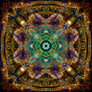 211 Framed Prints - Mandala 211 Framed Print by Stuart Turnbull