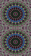 Psychedelic Metal Prints - Mandala 33 for iPhone Double Metal Print by Terry Reynoldson