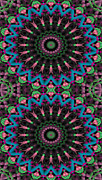 Restful Framed Prints - Mandala 35 for iPhone Double Framed Print by Terry Reynoldson