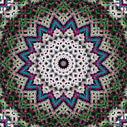 Relaxing Framed Prints - Mandala 37 Framed Print by Terry Reynoldson