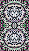 Restful Digital Art - Mandala 40 for iPhone Double by Terry Reynoldson