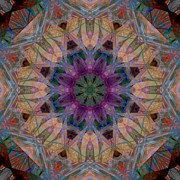 Stuart Turnbull Metal Prints - Mandala 45 Metal Print by Stuart Turnbull