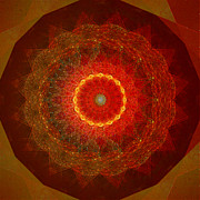 Stuart Turnbull Metal Prints - Mandala 46 Metal Print by Stuart Turnbull