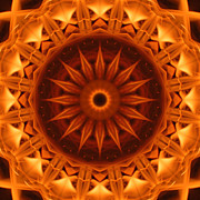 Stuart Turnbull Metal Prints - Mandala 51 Metal Print by Stuart Turnbull