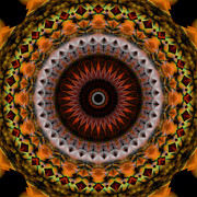 Stuart Turnbull Metal Prints - Mandala 54 Metal Print by Stuart Turnbull
