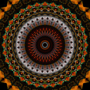 Stuart Turnbull Metal Prints - Mandala 56 Metal Print by Stuart Turnbull