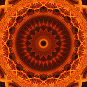 Stuart Turnbull Metal Prints - Mandala 57 Metal Print by Stuart Turnbull