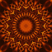 Stuart Turnbull Metal Prints - Mandala 64 Metal Print by Stuart Turnbull