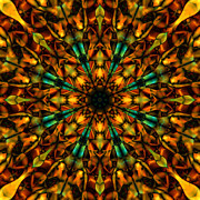 Stuart Turnbull Metal Prints - Mandala 65 Metal Print by Stuart Turnbull