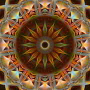 Stuart Turnbull Metal Prints - Mandala 68 Metal Print by Stuart Turnbull