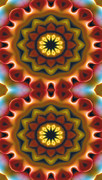 Mystical Posters - Mandala 75 for iPhone Double Poster by Terry Reynoldson