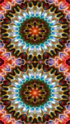 Iphone Framed Prints - Mandala 79 for iPhone Double Framed Print by Terry Reynoldson