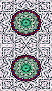 Kaleidoscope Framed Prints - Mandala 8 for iPhone Double Framed Print by Terry Reynoldson
