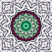 Sacred Framed Prints - Mandala 8 Framed Print by Terry Reynoldson