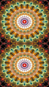 Sacred Geometry Posters - Mandala 87 for iPhone Double Poster by Terry Reynoldson
