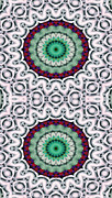 Textural Prints - Mandala 9 for iPhone Double Print by Terry Reynoldson