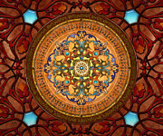Brown Print Mixed Media Posters - Mandala Arabia sp Poster by Bedros Awak