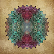 Flower Of Life Posters - Mandala Crystal Poster by Filippo B