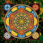 Postcard Mixed Media - Mandala Elements by Bedros Awak