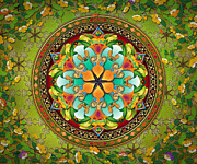 Crowing Posters - Mandala Evergreen sp Poster by Bedros Awak
