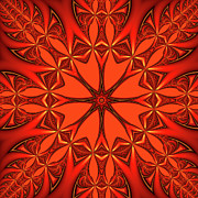 Shades Of Red Prints - Mandala Print by Gabiw Art