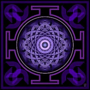 Mandala Hypurplectic Print by David Voutsinas