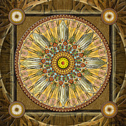 Enlightenment Posters - Mandala Illumination V1 Poster by Bedros Awak