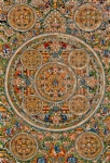 Thangka Prints - Mandala Of Heruka In Yab Yum And Buddhas Print by Lanjee Chee