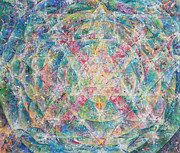 Yoga Painting Prints - Mandala of Love Print by Dina Herrmann