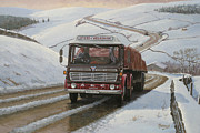 Classic Truck Posters - Mandator on Shap. Poster by Mike  Jeffries