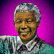 Series Digital Art Originals - Mandelas Rainbow Nation-Violet by Michael Durst