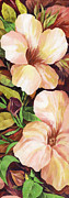 Tropical Plant Paintings - Mandevilla by Natasha Denger