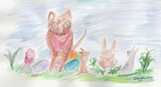 Bunny Paintings - Mandy Pandy by Helen Holden-Gladsky