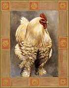 Chickens Prints - Mandy the Rooster Print by Linda Mears