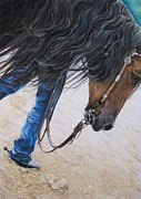 Rodeo Pastels Posters - Mane Attraction Poster by Joni Beinborn
