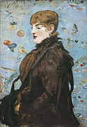 Automne Framed Prints - Manet, Édouard 1832-1883. Portrait De Framed Print by Everett