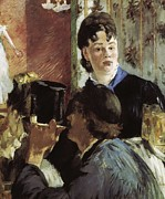 Waitress Photo Framed Prints - Manet, Édouard 1832-1883. Waitress Framed Print by Everett
