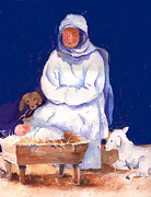 Nativity Paintings - Manger Scene by Suzy Pal Powell
