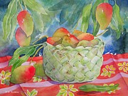 Mango Painting Metal Prints - Mango Harvest Metal Print by Kathleen Rutten