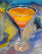 Martini Paintings - Mango Martini by Michael Creese