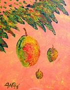 Mango Painting Originals - Mango Sky by J A George