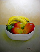 Mangos Paintings - Mangos and Bananas by Robb McKenzie