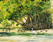 Award Painting Originals - Mangrove Morning by Janis Lee Colon