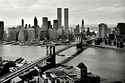 Wtc Center Framed Prints - Manhattan 1978 Framed Print by Benjamin Yeager