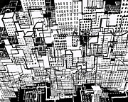 Manhattan Drawings - Manhattan 2 by Andy  Mercer