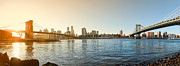 D700 Originals - Manhattan and Brooklyn Bridge Panorama by Michael Ver Sprill