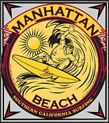 Manhattan Beach California Surfing Print by Larry Butterworth